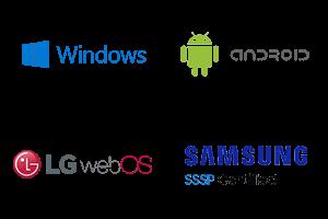 Illustration med logoer af understøttede PADS4 Viewers