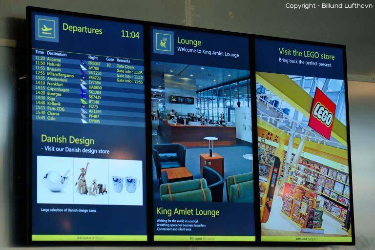 Hvad er en infoskærm - et eksempel fra Billund lufthavn