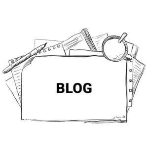 Illustration med teksten - blog