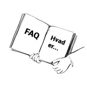 Illustration med teksten - faq hvad er...